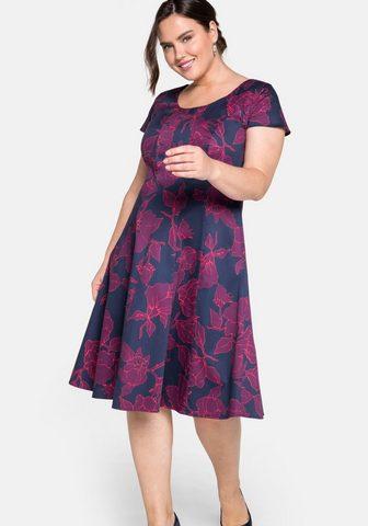 Sheego Kokteilinė suknelė su gėlėtas Alloverp...