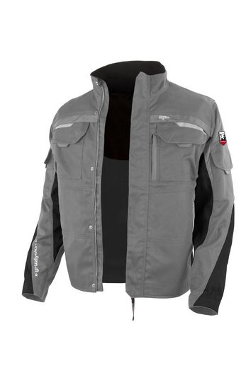 Grizzlyskin Workwear Arbeitsjacke »IRON« (1-St) Arbeitsbundjacke mit 12 Taschen - Atmungsaktiv - Blickdicht - Pflegeleicht - Strapazierfähig