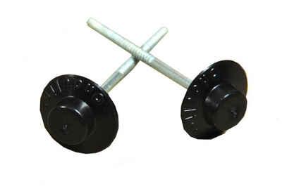 Onduline Dachbahn »Onduline Dachnägel Nägel für Dachplatten Wandplatten 65 mm Kopf rund schwarz 400 Stk.«, Rund, (400-St)
