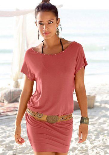 LASCANA Longshirt mit Ziernieten