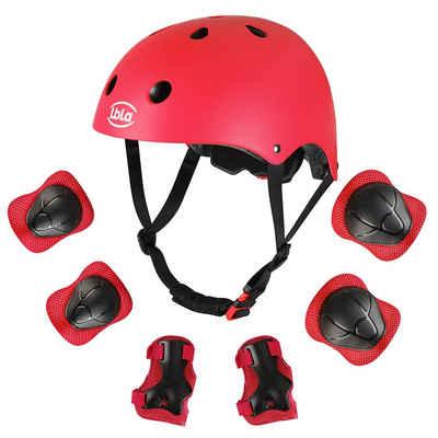 LBLA Kinderhelm »Kinder Schutzausrüstung Set mit Helm«, ab 3 Jahre für Sport Radfahren Skateboard Skates Scooter Roller, 48-54cm
