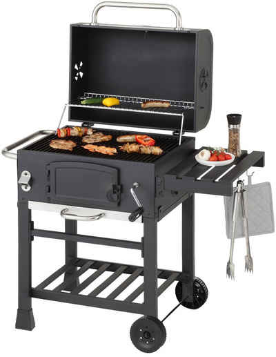 Barbecue Kohle Enders Ontario Holzkohlegrill Grillwgen Smoker Standgrill