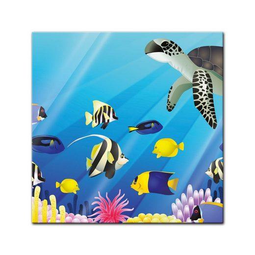 bilderdepot24 glasbild, glasbild - kinderbild unterwasser