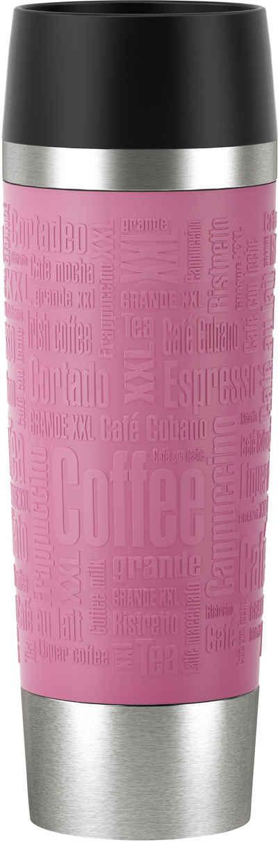 Emsa Thermobecher »Travel Mug Grande«, Edelstahl, Silikon, Kunststoff, 100% dicht, 6h heiß, 12h kalt, 500 ml