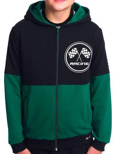 BEZLIT Kapuzensweatshirt »Jungen Sweatjacke mit Motiv Druck« (1-tlg) zwei farbig, Rennfahnen