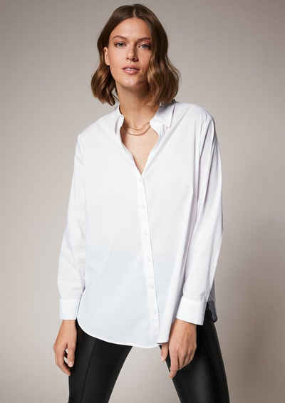 comma casual identity Langarmbluse »Bluse im cleanen Look«