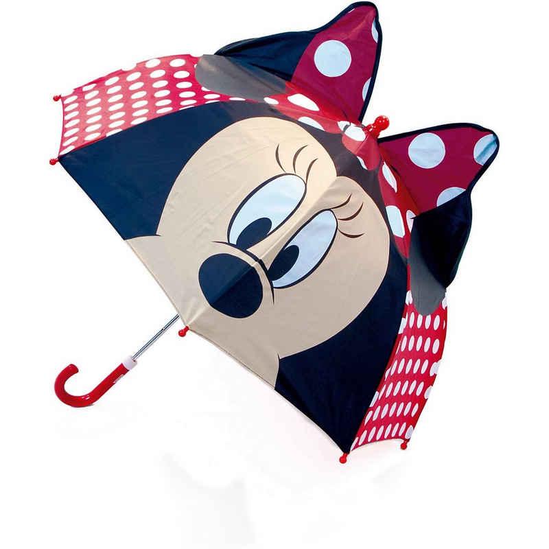 Disney Mickey Mouse Langregenschirm »3D-Kinderschirm Minnie Mouse 48/8«