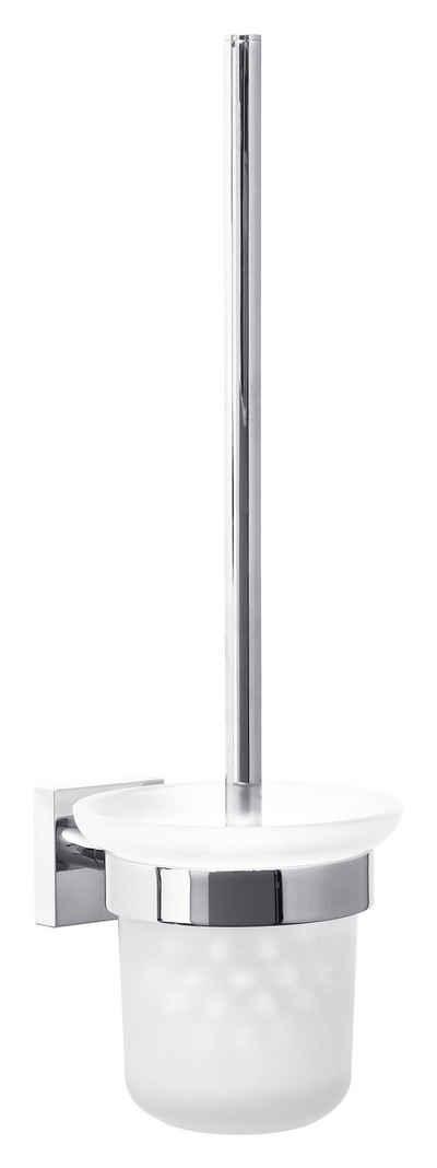 WC-Reinigungsbürste »Ekkro WC-Bürstengarnitur, verchromt, inkl. Klebelösung«, tesa, (1-tlg), Kein Bohren, Rostfrei