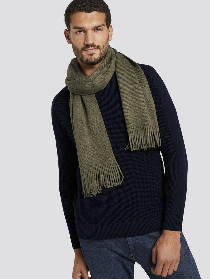 tom tailor -  Wollschal »Gerippter Schal mit Fransen«