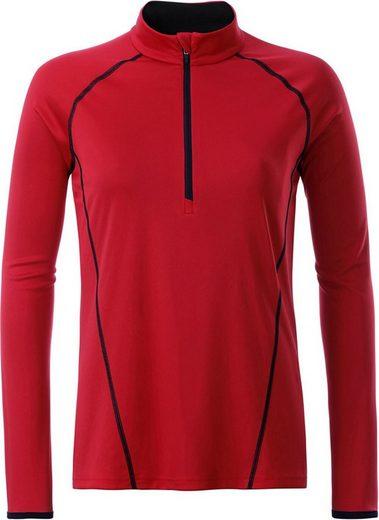 James & Nicholson Funktionsshirt »JN 497 Damen Funktionsshirt langarm Sports Shirt Longsleeve« Atmungsaktiv, feuchtigkeitsregulierend und schnell trocknend