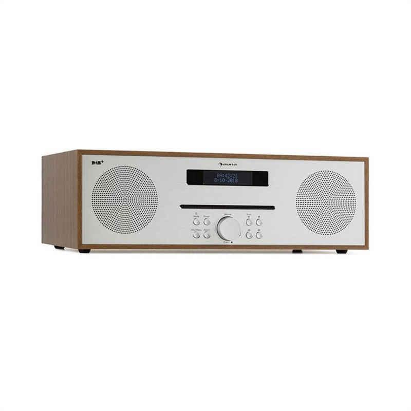 Auna »Silver Star CD-DAB 2x20W max. Slot-In CD-Player DAB+ BT Alu braun« Radio (DAB+, UKW-Radio, 0 W)