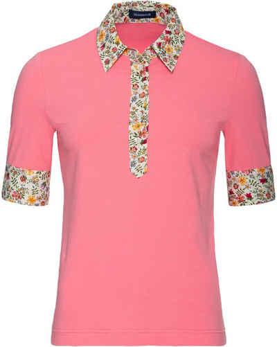 Highmoor Poloshirt »Jerseypolo mit Blumenkontrast«