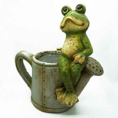HTI-Living Gartenfigur »Pflanztopf Frosch mit Schubkarre Magnesia«