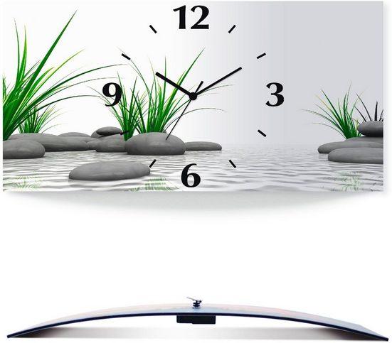 Artland Wanduhr »3 D Steine« (3D Optik gebogen, lautlos, ohne Tickgeräusche, nicht tickend, geräuschlos - wählbar: Funkuhr o. Quarzuhr, moderne Uhr für Wohnzimmer, Küche etc. - Stil: modern)
