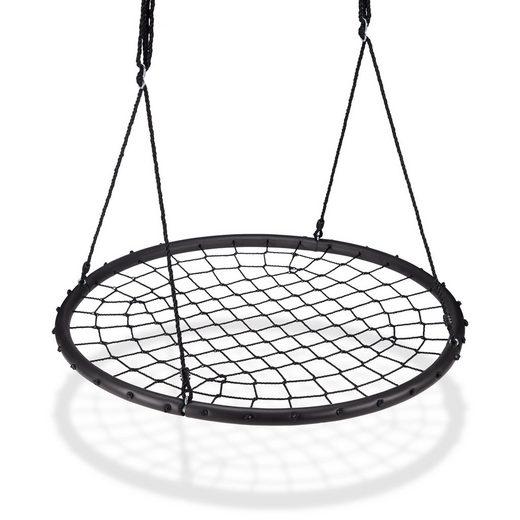 relaxdays Nestschaukel »Nestschaukel mit Netz 120 cm«