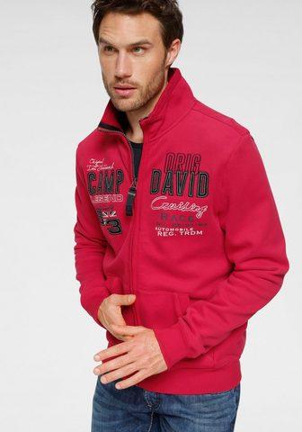 CAMP DAVID Sportinio stiliaus megztinis su großem...