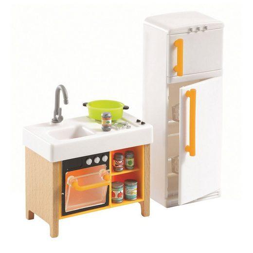 DJECO Puppenhausmöbel »Puppenhaus - Kompakte Küche«