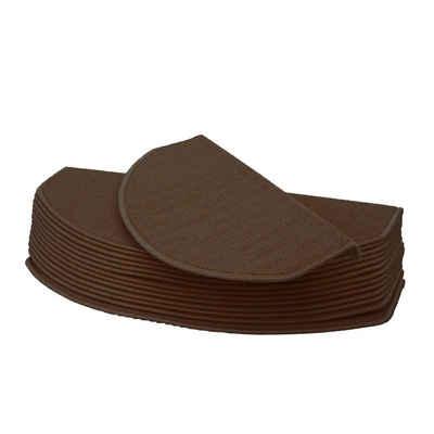 Stufenmatte »Stufenmatte MCW-G49«, MCW, halbrund, Höhe 0,5 mm, Kantenverstärkung durch Winkelschienen, Antirutsch-Effekt, Schutz vor Abnutzung, Trittschalldämpfung