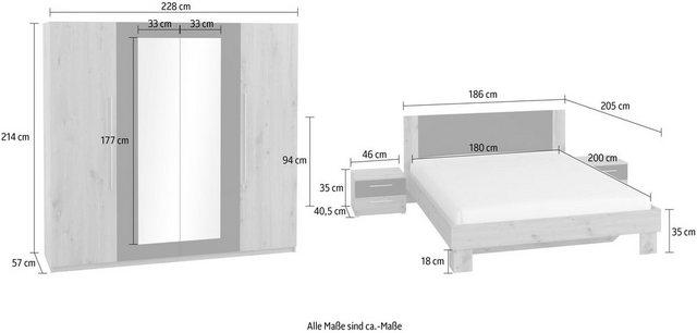 Schlafzimmer Sets - Schlafzimmer Set »Vera«, (4 St)  - Onlineshop OTTO