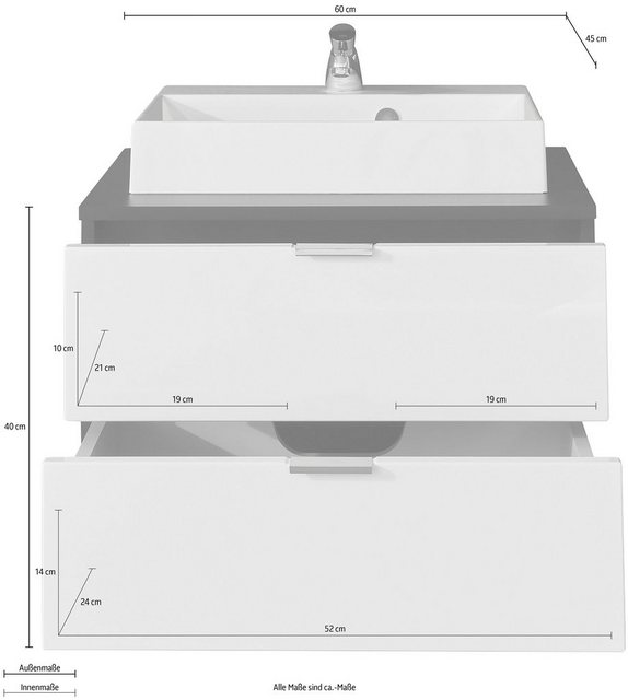 Waschtische - trendteam Waschtisch »Concept One« (2 St)  - Onlineshop OTTO