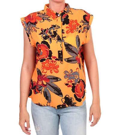 Lee® Blusentop »Lee Floral Bluse knalliges Damen Blusen-Shirt Sommer-Shirt mit Allover-Druck Orange«