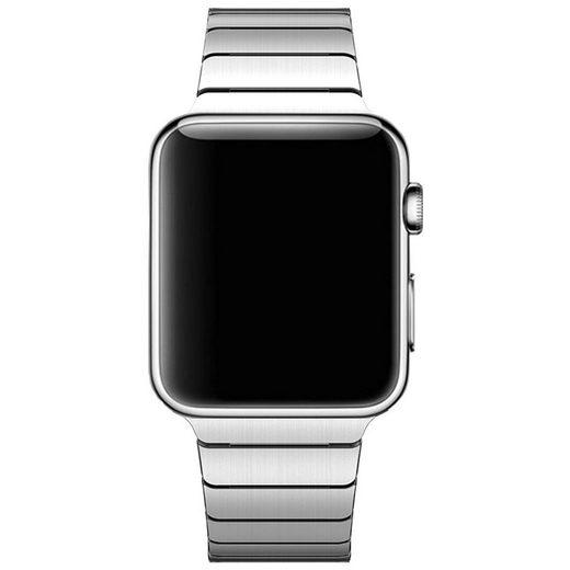 CoverKingz Smartwatch-Armband »Gliederarmband für Apple Watch Series 1/2/3/4/5/6/SE Ersatz Band 38/40mm Silber«