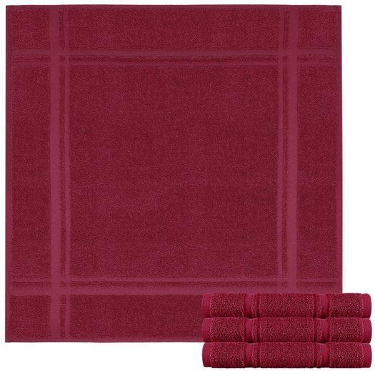 Lashuma Handtuch Set »Pure Küchentücher« (Spar-Set, 4-tlg), Frottee Küchenhandtücher