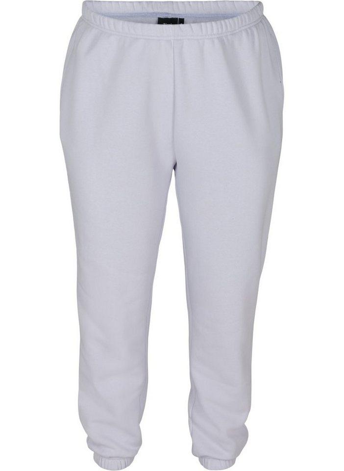 zizzi -  Sweathose Große Größen Damen Einfarbige Sweatpants aus Baumwolle mit Taschen
