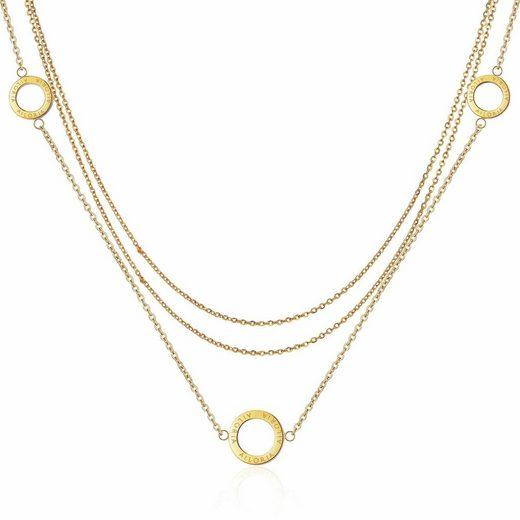 AILORIA Edelstahlkette »ANNABELLE« (1-tlg., inkl. Schmucksäckchen), Halskette aus glänzendem Edelstahl