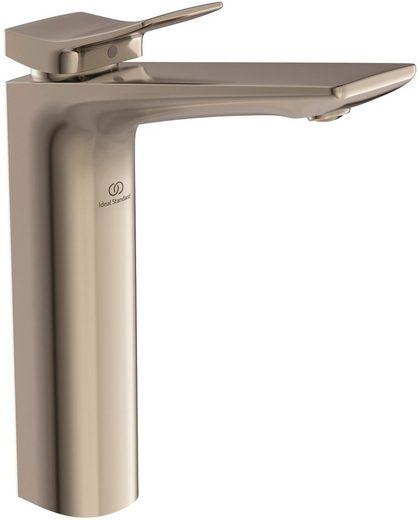 Ideal Standard Waschtischarmatur »Check« (2-St) mit Ablaufgarnitur und verlängertem Sockel