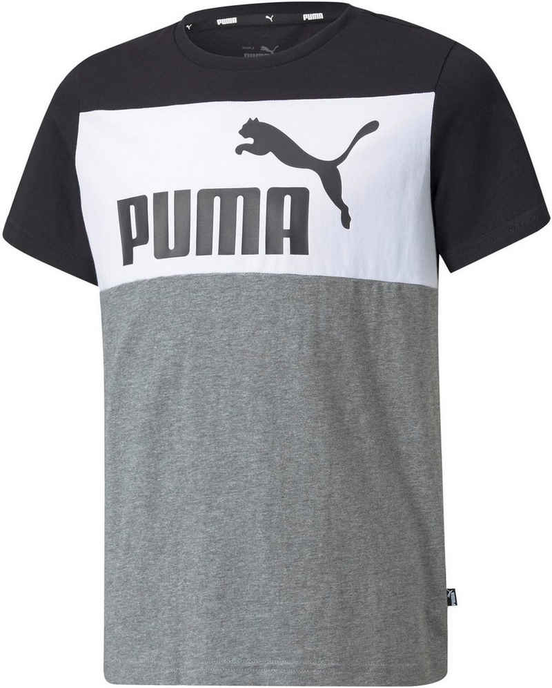 PUMA T-Shirt »ESS+ Colorblock Tee«