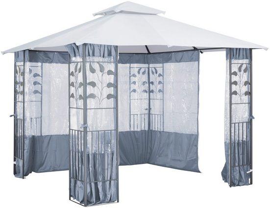 KONIFERA Seitenteile für Pavillon mit Fenster für Pavillon »Blätter«, grau