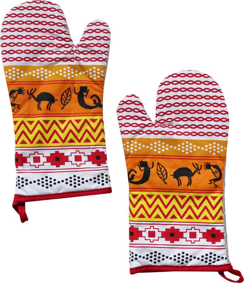 stuco Topfhandschuhe »Inka«, (Set, 2-tlg)