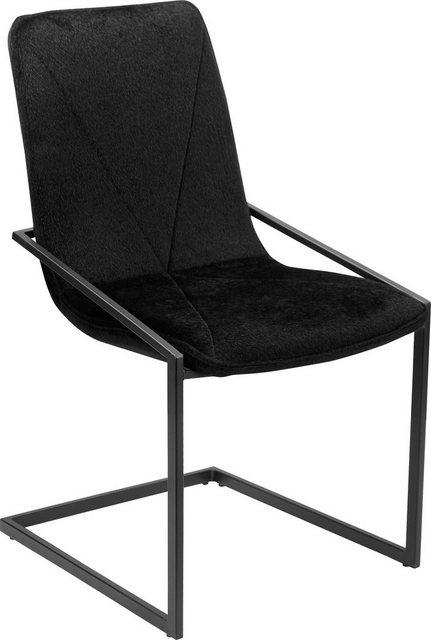 Stühle und Bänke - INOSIGN Freischwinger »Vitus« 2er Set, aus schönem weichen Samtvelours Bezug, in verschiedenen Farbvarianten  - Onlineshop OTTO