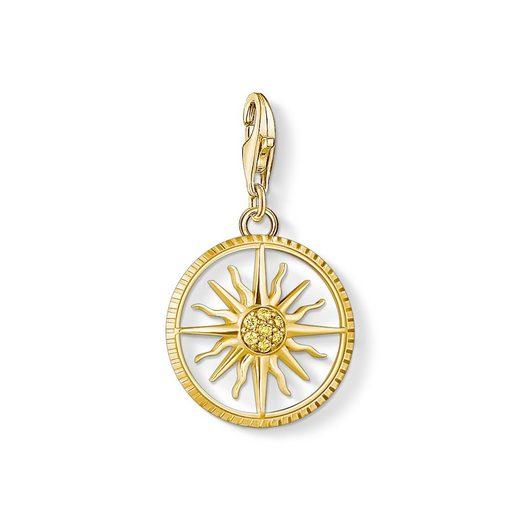 THOMAS SABO Charm-Einhänger »1765-414-4 Charm-Anhänger Sonne Klein Silber Vergoldet«