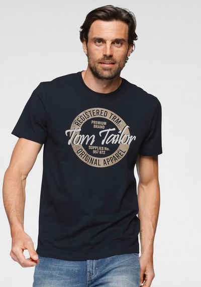 TOM TAILOR T-Shirt Mit Logofrontprint
