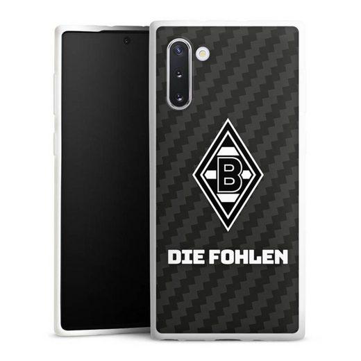 DeinDesign Handyhülle »Die Fohlen Carbon« Samsung Galaxy Note 10, Hülle Borussia Mönchengladbach Carbon Gladbach