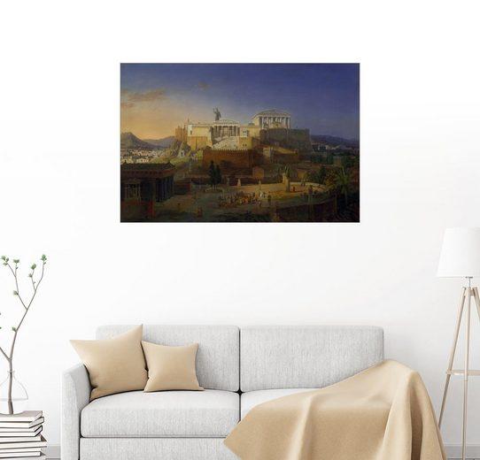 Posterlounge Wandbild, Die Akropolis von Athen, 1846