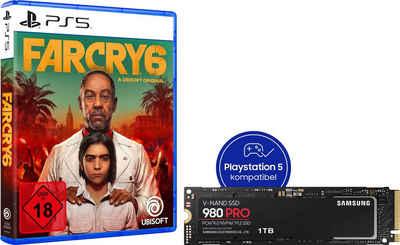 Samsung »980 PRO SSD 1TB + Far Cry 6 PS5« interne SSD (1 TB) 7000 MB/S Lesegeschwindigkeit, 5000 MB/S Schreibgeschwindigkeit, NVMe M.2)