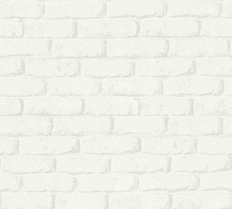 living walls Papiertapete »Boys & Girls«, Steinoptik, Backstein, umweltfreundlich