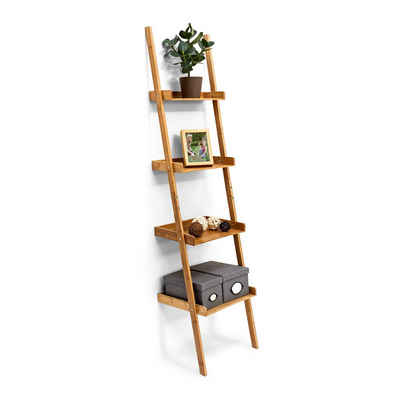 relaxdays Leiterregal »Leiterregal Bambus 4-stufig«