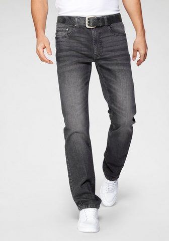 John Devin Straight-Jeans su tiesus Bein