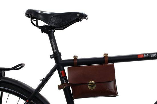 Gusti Leder Rahmentasche »Firmin L.«, Fahrradtasche Radtasche für Werkzeug Fahrrad Ledertasche