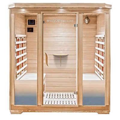HOME DELUXE Infrarotkabine »BALI XL«, Keramikstrahler, Holz: Hemlocktanne, Maße: 175 x 120 x 190 cm, Infrarotsauna für 4 Personen, Sauna, Infrarot, Kabine