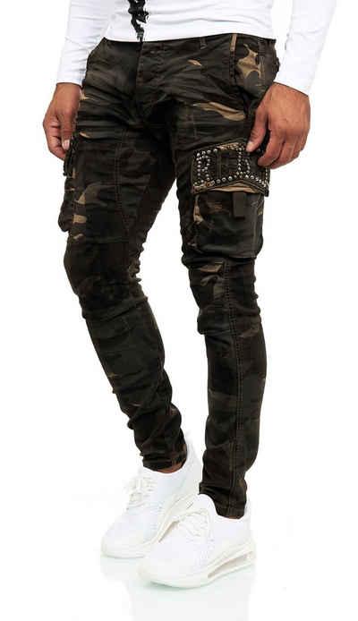 KINGZ Slim-fit-Jeans mit modischen Details