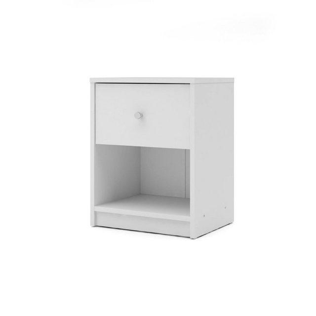 Nachttische - ebuy24 Nachttisch, Nachtkonsole »Maria Nachttisch 1 Schublade und 1 Raum weiss.«  - Onlineshop OTTO