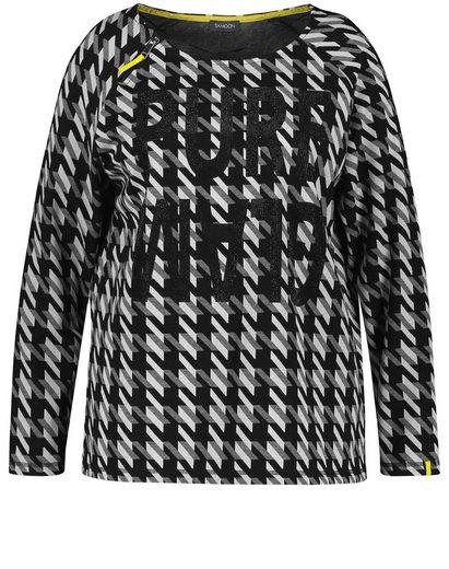 Samoon Langarmshirt »Shirt mit Hahnentritt« (1-tlg)