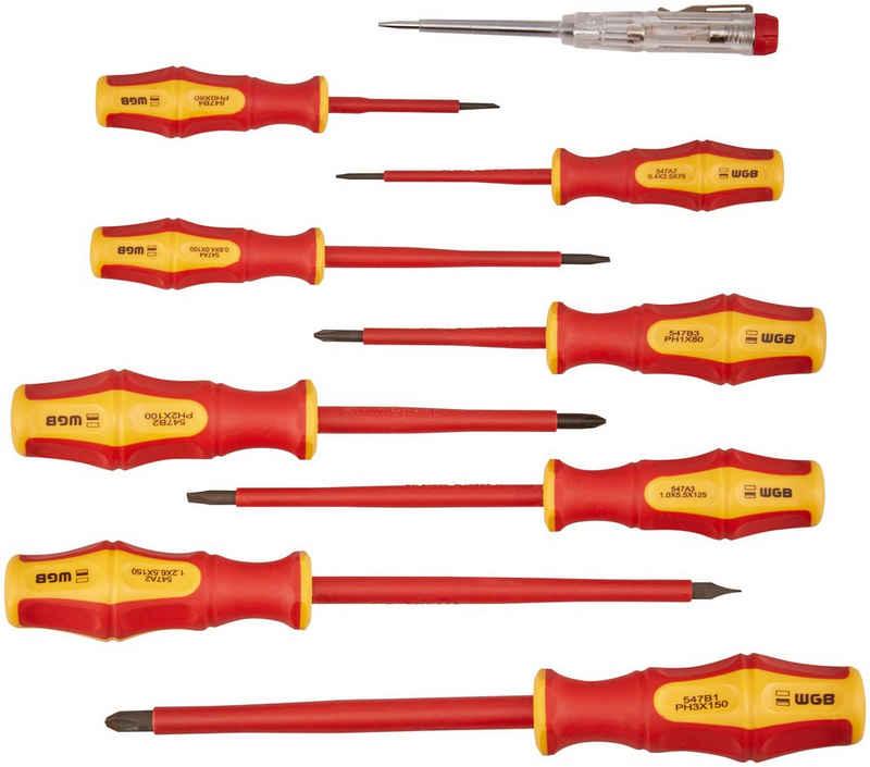WGB Das Werkzeug Schraubendreher »594«, (Set, 9 St), VDE-Garnitur, Stahl