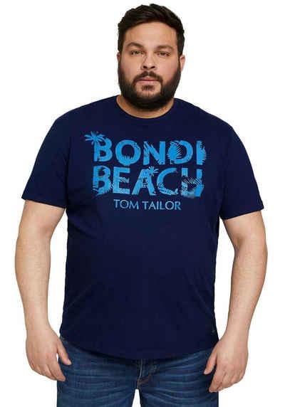 TOM TAILOR Men Plus T-Shirt mit Logoprint