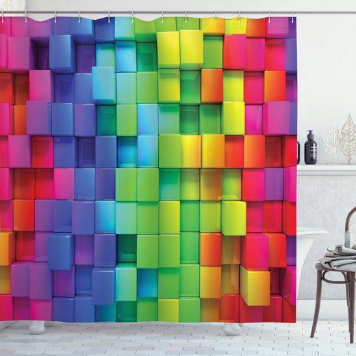 Abakuhaus Duschvorhang »Moderner Digitaldruck mit 12 Haken auf Stoff Wasser Resistent« Breite 175 cm, Höhe 180 cm, Bunt rainbow Color